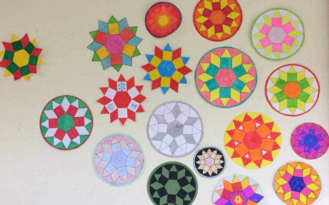 Le chemin des étoiles des 5èmes ou la géométrie en action !
