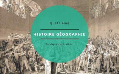 L'Histoire Géographie EMC en Quatrième