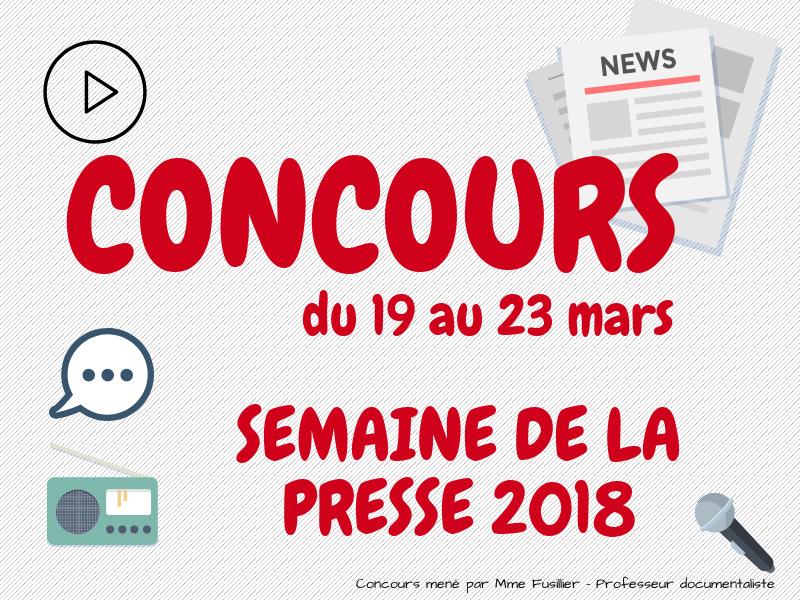 CONCOURS – Semaine de la presse et des médias