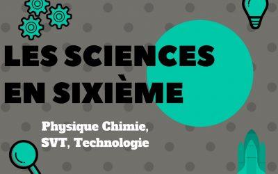 Les sciences en 6ème