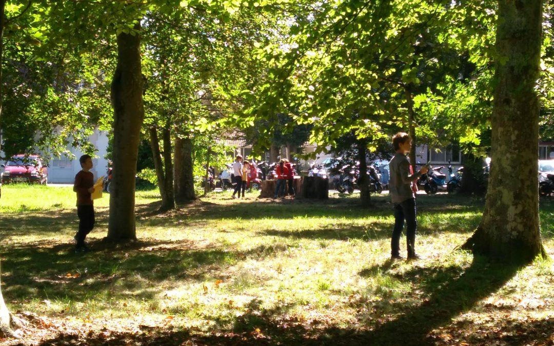 Promenade dans un environnement proche : le parc de Villa Pia