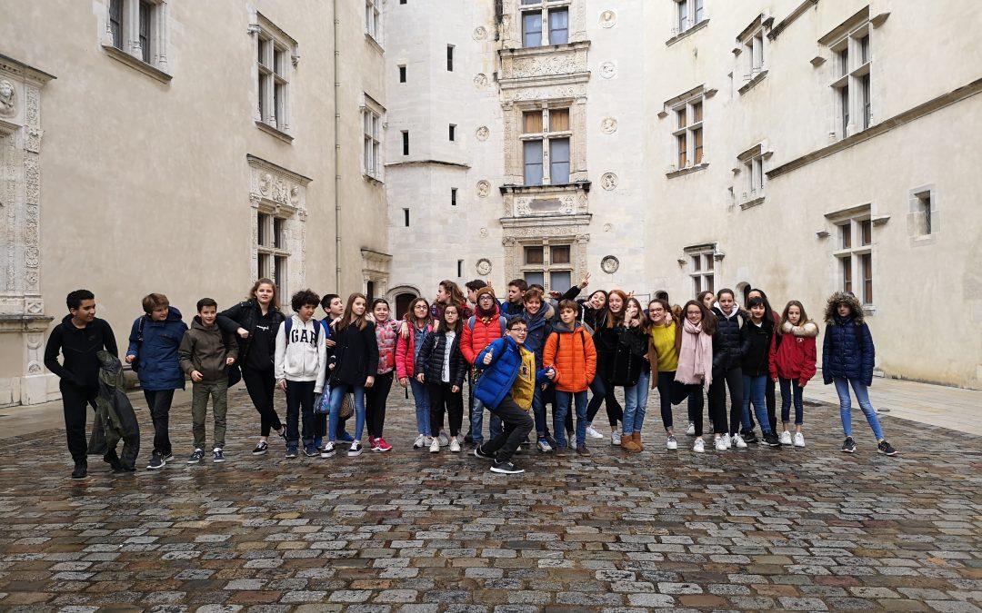 Les 5B et 5C au château de Pau
