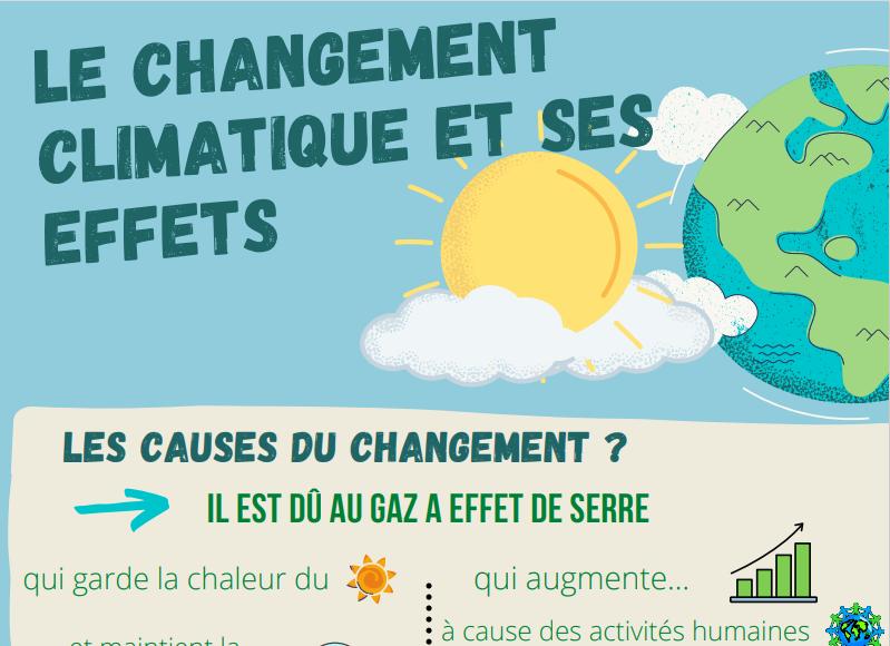 Face au changement climatique : les 5èmes s'engagent